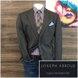 Joseph Abboud Sport Coat Blazer 2 Button Wool USA
